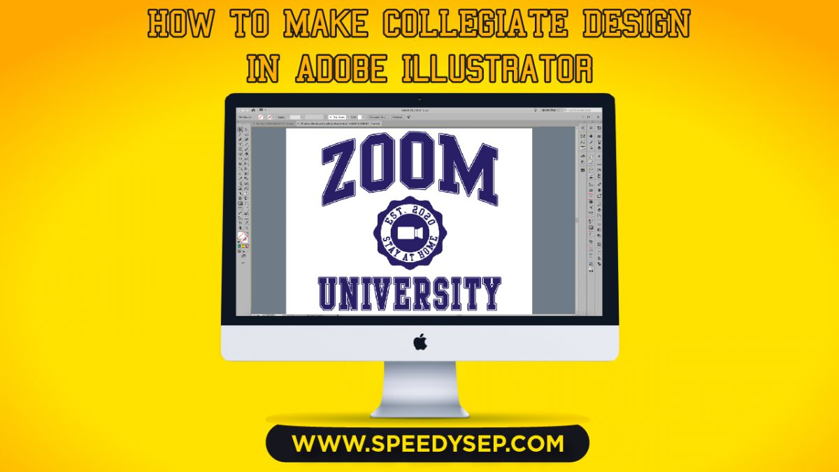 How to make Collegiate Design in Adobe Illustrator