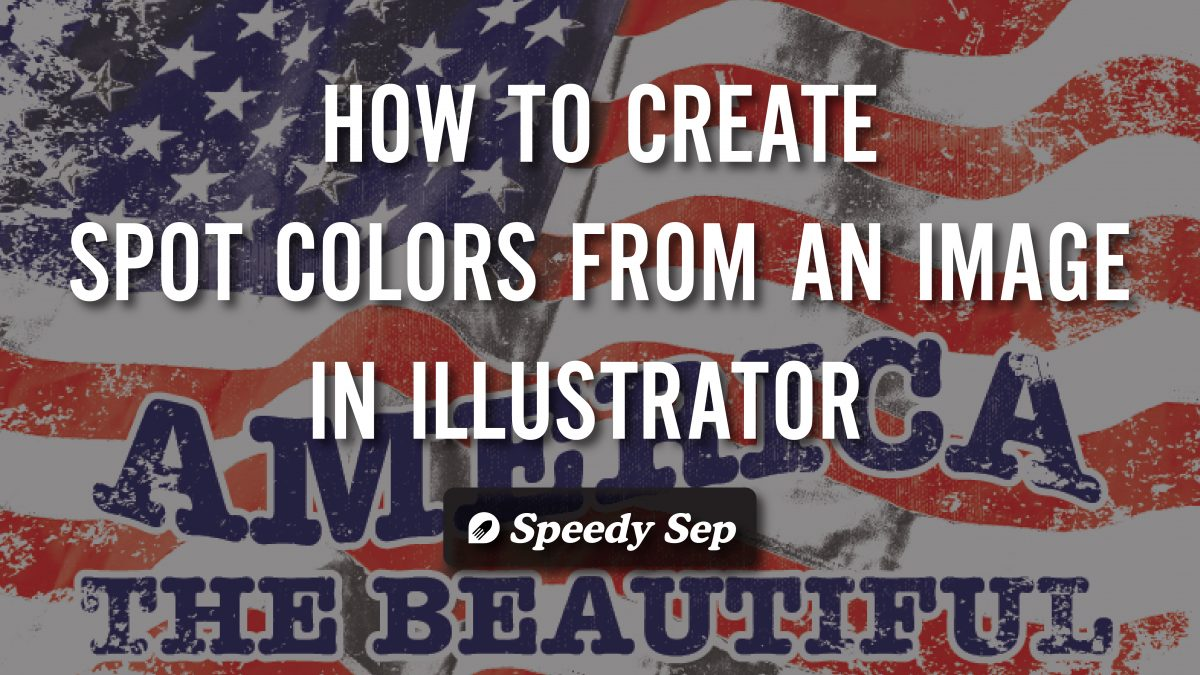 create spot color from an image in illustrator-
