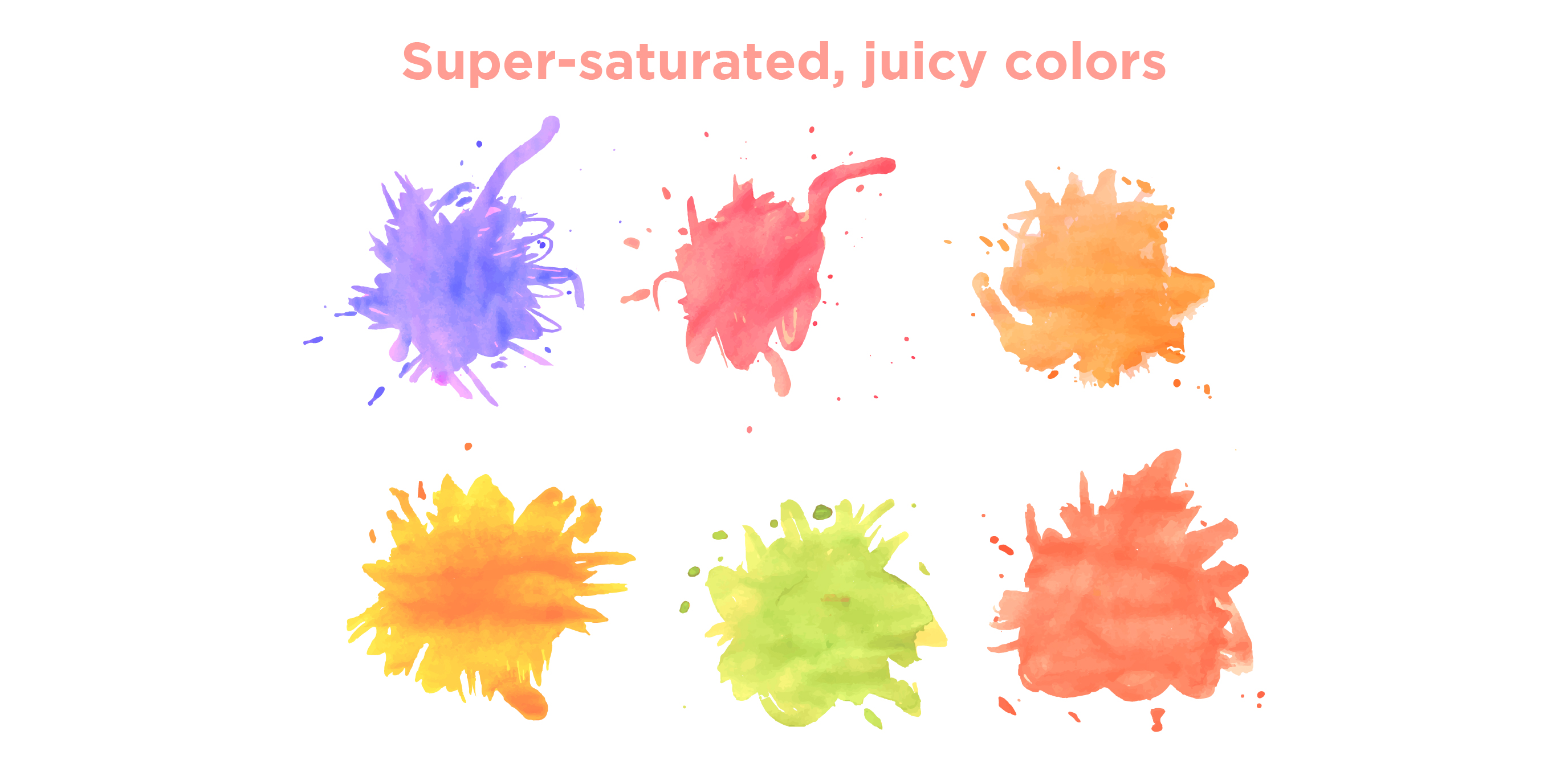 Super saturated juicy colors 01